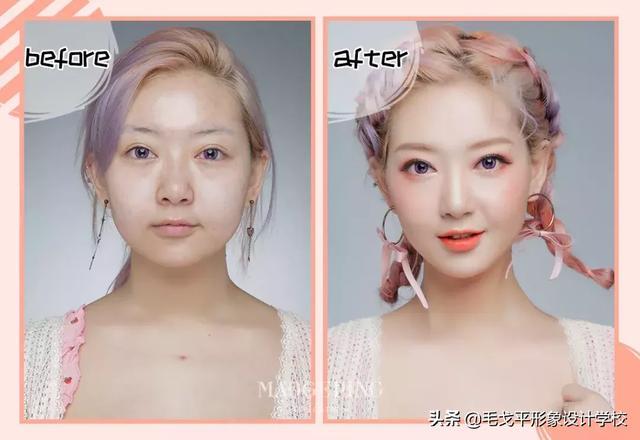 女孩化妆前后的差别有多大?
